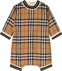 Burberry Antique Check Footless Baby Body