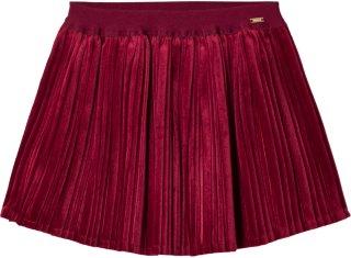 Mayoral Velvet Pleated Skirt