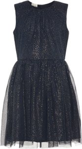 Name It Kids Gold Dotted Tulle Dress