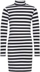 Name It Kids Striped High Neck Dress