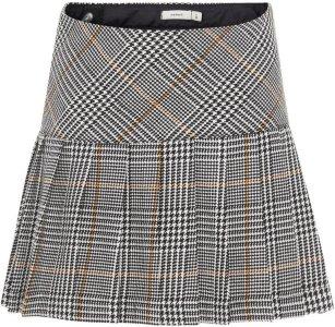 Name It Kids Pleated Check Mini Skirt