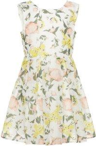 Name It Kids Floral Print Organza Dress