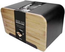 Gusta brødboks med bambuslokk