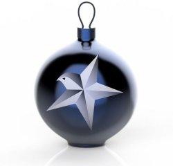 Alessi Blue Christmas Stella julekule