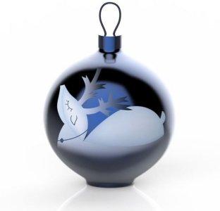 Alessi Blue Christmas Renna julekule