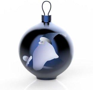 Blue Christmas Babbo Natale julekule