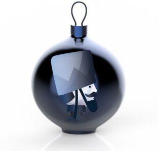 Alessi Blue Christmas Soldato julekule