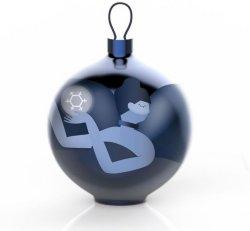 Alessi Blue Christmas Balerina julekule