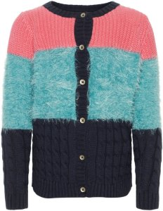 Name It Fuzzy Mini Knitted Cardigan