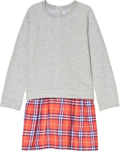 Burberry Check Sweatshirt Dress