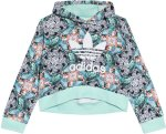 Adidas Originals Zebra Jungle Print Cropped Hooded Sweater