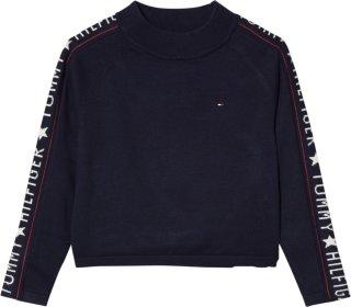 Tommy Hilfiger Iconic Logo Mock Neck Sweater