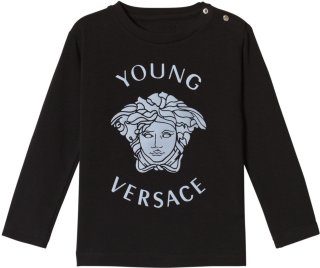 Young Versace Reflective Medusa Print Long Sleeve