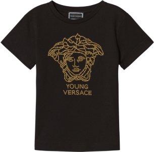 Young Versace Medusa Studded Tee