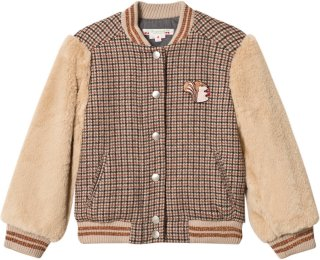 Bonpoint Check Bomber Jacket
