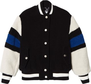 MSGM Teddy Fleece Sleeve Bomber