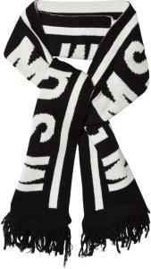 MSGM Black Logo Knit Scarf