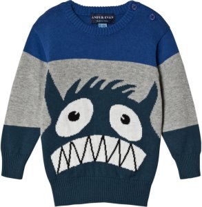 Andy & Evan Baby Monster Intarsia Sweater