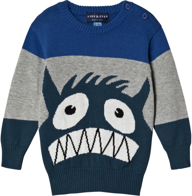 fa0b4eb7 Best pris på Andy & Evan Monster Intarsia Sweater - Se priser før kjøp i  Prisguiden