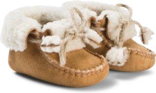 Bonpoint Tan Sheepskin Booties