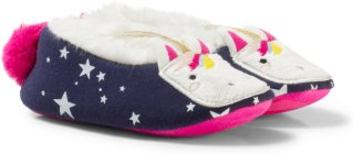 Tom Joule Unicorn Applique and Pom Slippers