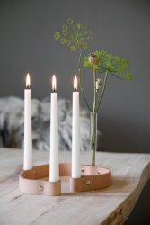 By Wirth Belt 4-Candles lysestake natur
