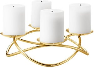 Georg Jensen Season Grand lysestake forgylt