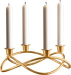 Georg Jensen Season lysestake forgylt