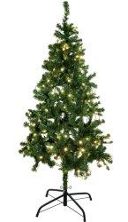Europalms juletre 210cm grønn opplyst