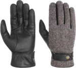 Stetson Woolrich Leather Gloves