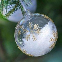 Magnor Glassverk Himmel På Jord julekule 8cm