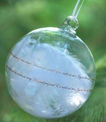 Magnor Glassverk Himmel På Jord julekule 12cm