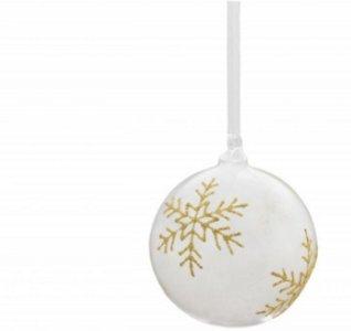 Magnor Glassverk Stjerner Gull julekule 12cm