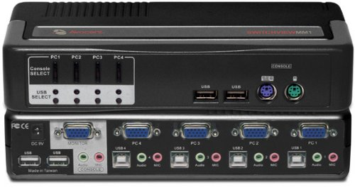 Avocent 4-Port KVM/Multimedia Switch 4SVPUA10-202