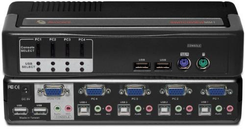 Avocent 4-Port KVM/Multimedia Switch 4SVPUA10-202