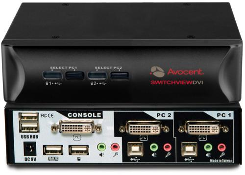 Avocent SwitchView 2-port DVI 2SVDVI10-202