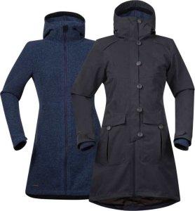 Bergans Bjerke 3in1 Lady Coat, 3 i 1 jakke dame Grønn