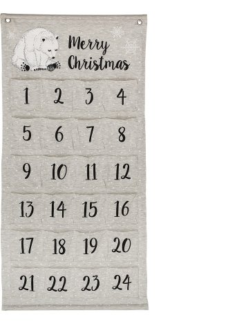 Bloomingville adventskalender grå