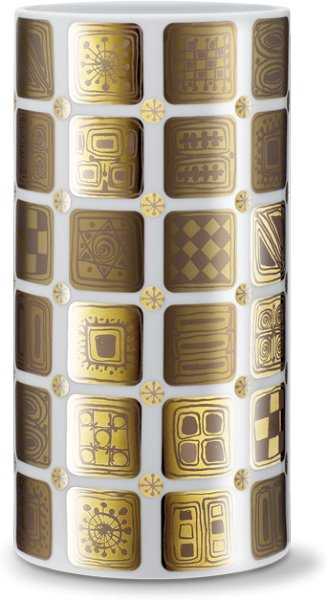 Bjørn Wiinblad vase gull 24cm