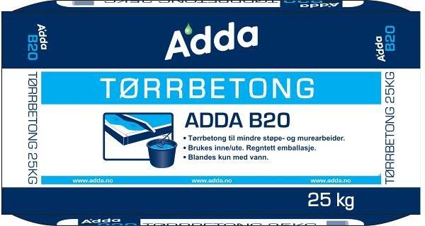 Adda Tørrbetong B20 25kg