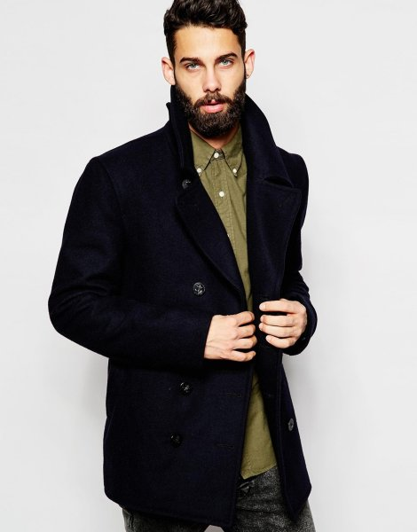 Gloverall Classic Peacoat