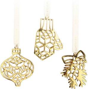 Hadeland Glassverk Marias Jul juletrepynt 3 stk kongle, kule, vott
