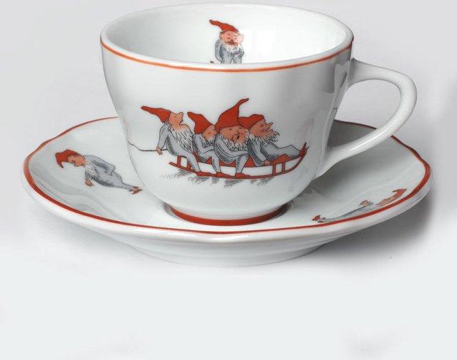 Porsgrunds Porselænsfabrik Nisse kopp 15cl med skål