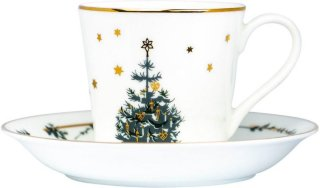 Twinkle Stars kaffekopp med skål