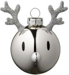 Hoptimist Reinsdyr julekule 2 stk