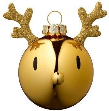 Hoptimist Reindeer julekule 2 stk