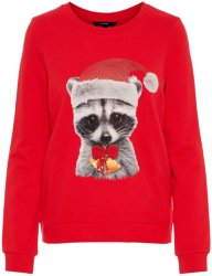 Vero Moda Animal Printed Christmas Sweater