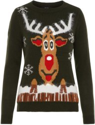 Vero Moda Christmas Knitted Pullover (Reinsdyr)