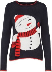 Only Snowman Christmas Knitted Pullover