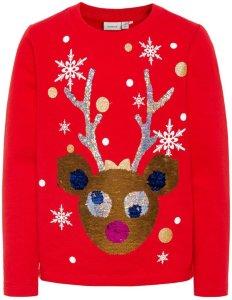 Name It Kids Rudine Christmas Sweatshirt